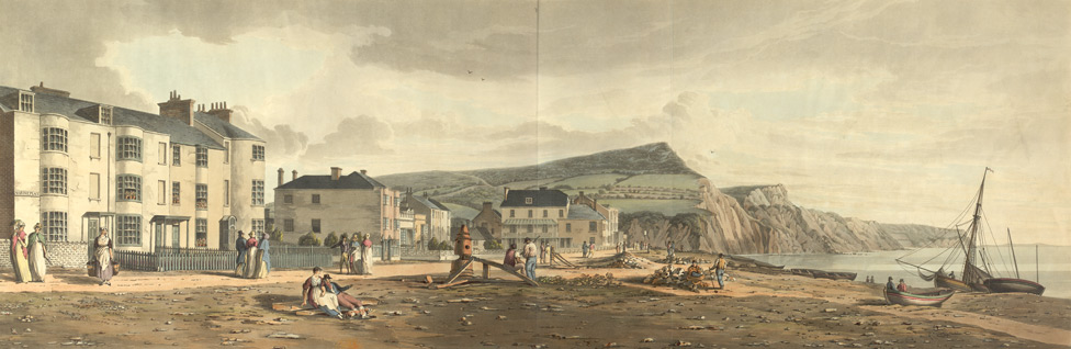 [Marine Place and the Shore in] Sidmouth